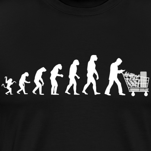 Evolution of man : I buy so i am! - T-shirt Premium Homme