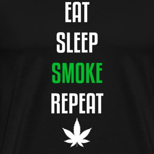 Eat Sleep Smoke Repeat! - Männer Premium T-Shirt