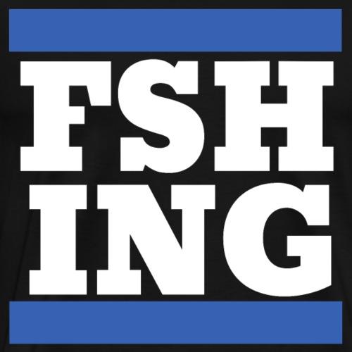 Fishing Angeln Logo Weiß Cooles Geschenk Shirt - Männer Premium T-Shirt