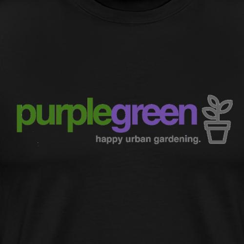 purplegreen - happy urban gardening - Männer Premium T-Shirt