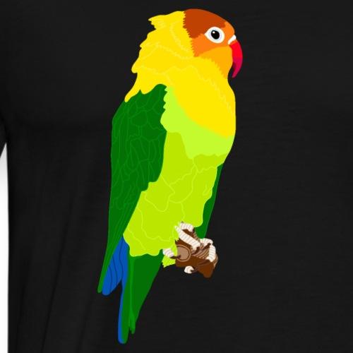 Papagei grün gelb - Männer Premium T-Shirt