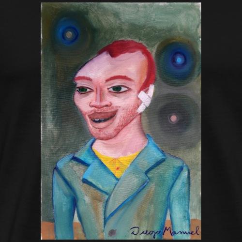 Van Gogh con oreja cortada - Camiseta premium hombre