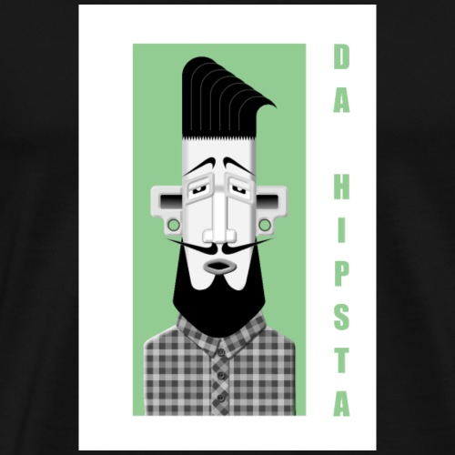 Hipster No1 - Männer Premium T-Shirt
