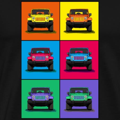 Die Geländewagen Ikone als coole Grafik - Männer Premium T-Shirt