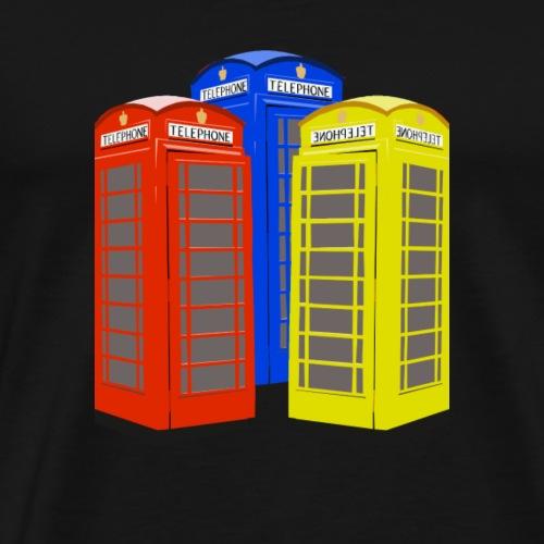 London Phoneboxes - Men's Premium T-Shirt