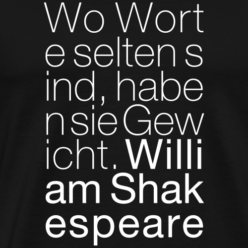 William Shakespeare - Männer Premium T-Shirt
