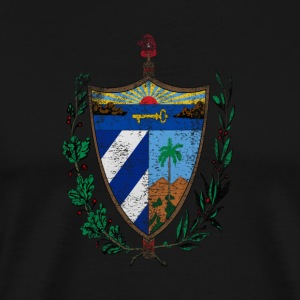 Cuban Coat of Arms Cuba Symbol - Premium-T-shirt herr