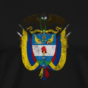 Colombia Coat of Arms Colombia Symbol - Men's Premium T-Shirt
