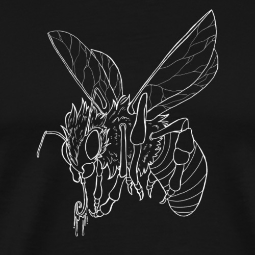 Biene Weiß - Männer Premium T-Shirt