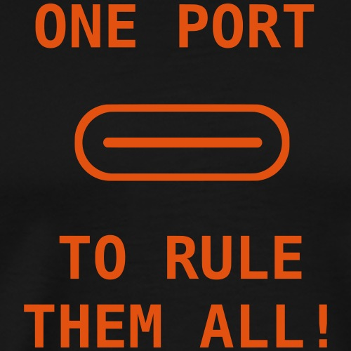 one port to rule them all - Männer Premium T-Shirt