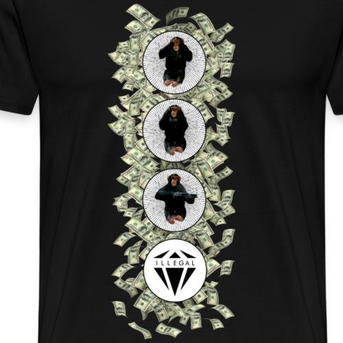 GangstaMonkkk - Maglietta Premium da uomo