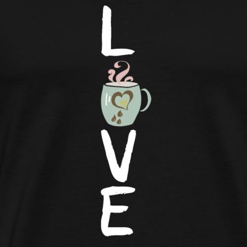 Coffee Love Tasse weiß - Männer Premium T-Shirt