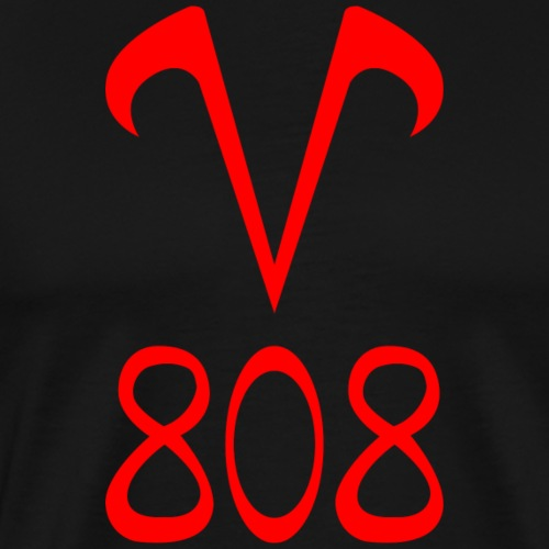 V808 rouge - T-shirt Premium Homme