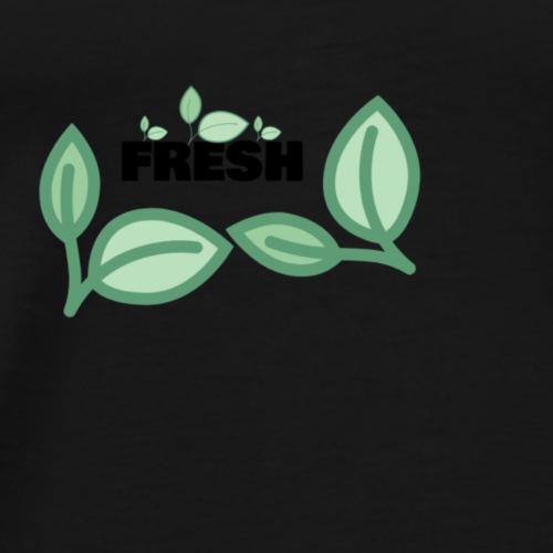 FRESH - Schönes Fresh Design mit Blättern - Männer Premium T-Shirt