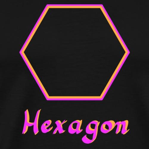 Hexagon 2Farben - Männer Premium T-Shirt