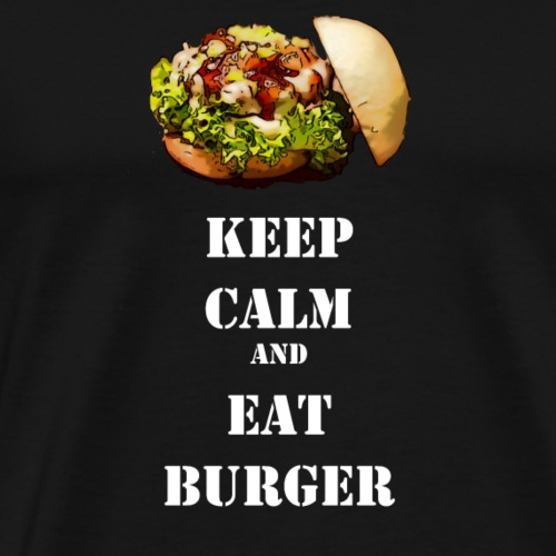 Keep calm and eat burger - Männer Premium T-Shirt