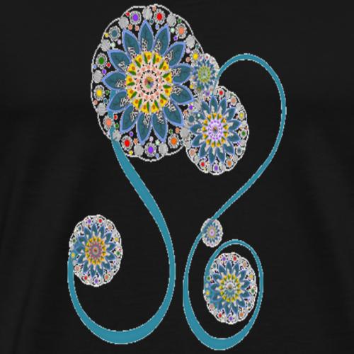 le coeur des fleurs - T-shirt Premium Homme