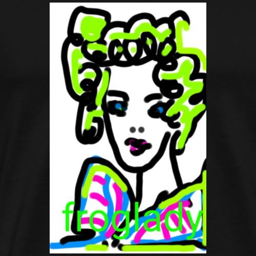 frog lady fund esign© by art elisa elisa hopp - Männer Premium T-Shirt
