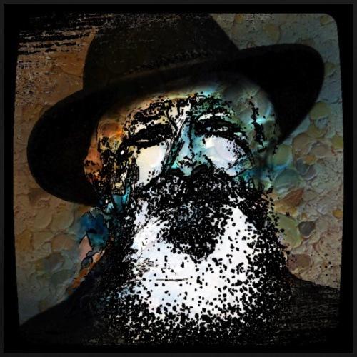 alter Mann mit Hut - Männer Premium T-Shirt
