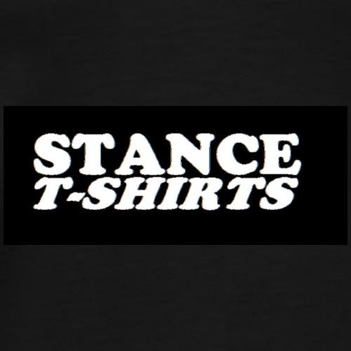 White on Black Logo - Men's Premium T-Shirt
