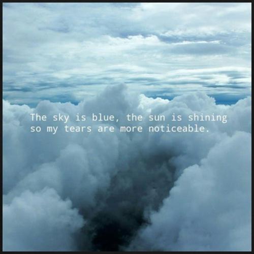 Blue Sky - Maglietta Premium da uomo