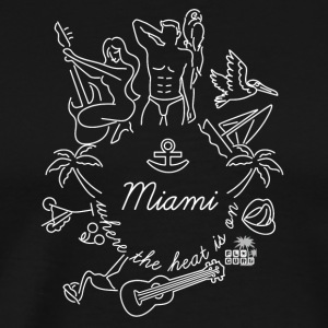 Miami - Where the heat is on... S/W by FloridaGuru - Männer Premium T-Shirt