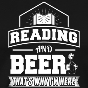 Reading AND BEER - Men's Premium T-Shirt