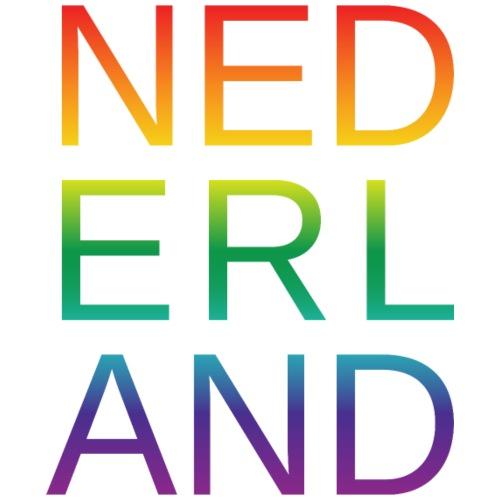 Nederland in de kleur van gay pride regenboog - Mannen Premium T-shirt