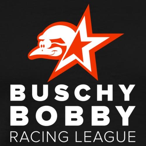 Buschy Bobby Racing League on black - Men's Premium T-Shirt