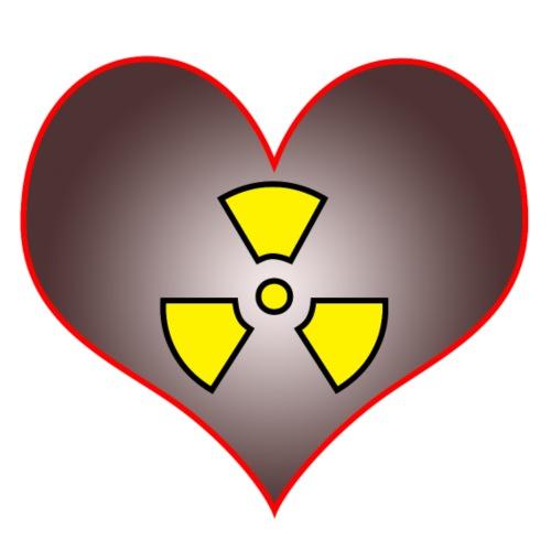 Cuore radioattivo - Maglietta Premium da uomo