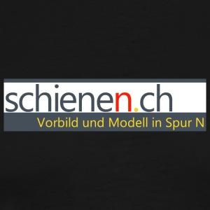 Schriftzug «schienen.ch» mit Text, gross - Männer Premium T-Shirt