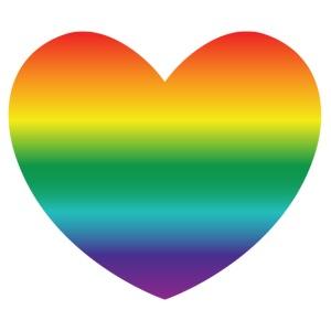 Hart in regenboog kleuren - Mannen Premium T-shirt
