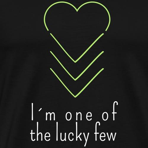 THE LUCKY FEW HEART | The colorful zebra - Men's Premium T-Shirt