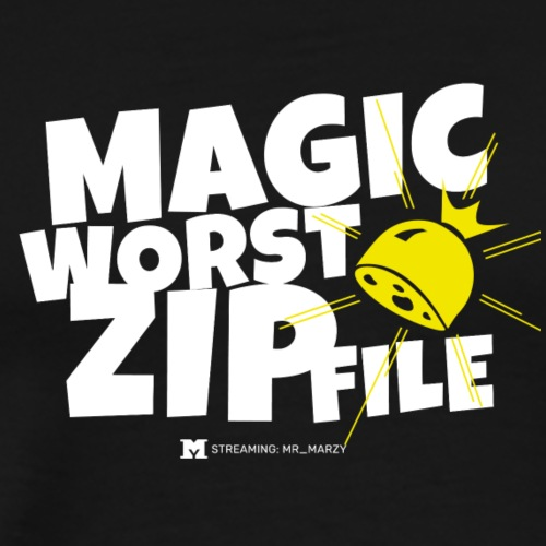 Magische Wurstzipfel! (Dark) - Männer Premium T-Shirt