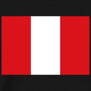 National Flag Of Peru - Premium-T-shirt herr