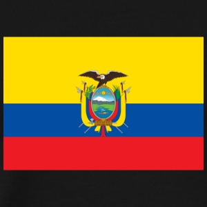 National Flag Of Ecuador - Premium-T-shirt herr
