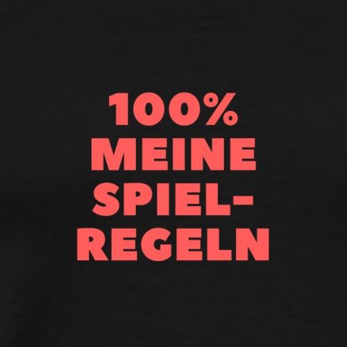 100% meine Spielregeln - rot / red - Männer Premium T-Shirt
