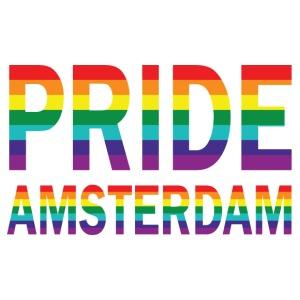 Pride Amsterdam in regenboog kleuren - Mannen Premium T-shirt