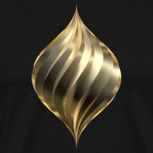 Drehtropfen Gold - Männer Premium T-Shirt