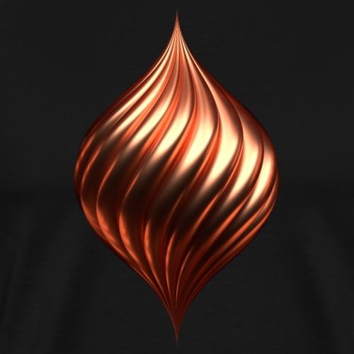 Drehtropfen Kupfer - Männer Premium T-Shirt