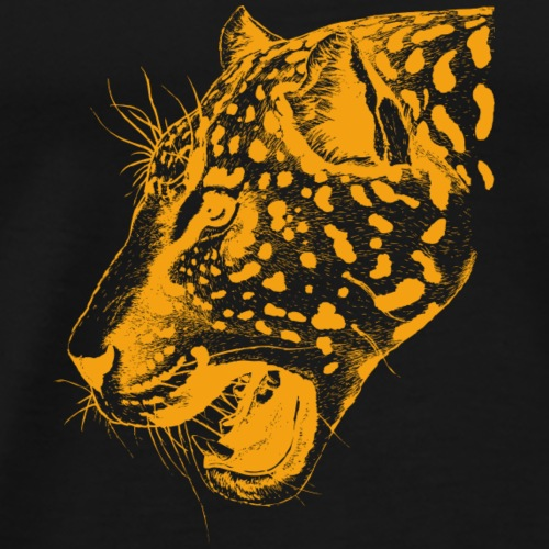 leopard orange, leopard, katze, groß katze - Männer Premium T-Shirt