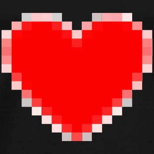 8-bit Pixels Rood Liefdes Hart - Mannen Premium T-shirt