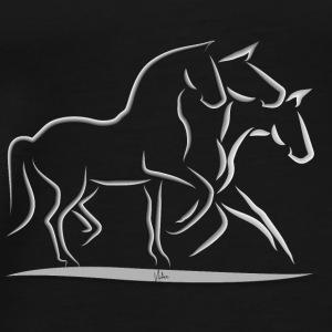 Pferdetrio - Männer Premium T-Shirt