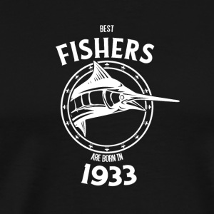 Present for fishers born in 1933 - Men's Premium T-Shirt