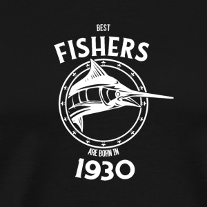 Present for fishers born in 1930 - Männer Premium T-Shirt