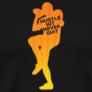 Football: Hustle frappé Never Quit - T-shirt Premium Homme