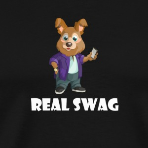 Real Swag hund - Premium T-skjorte for menn