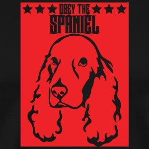 Hund / Cocker Spaniel: Obey The Spaniel - Männer Premium T-Shirt