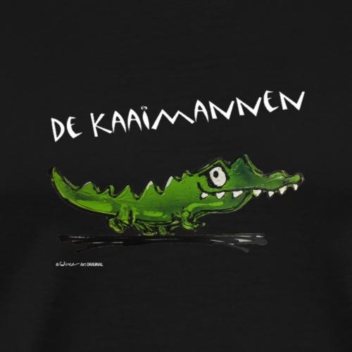 DE KAAIMANNEN tekst WIT by Wine - Mannen Premium T-shirt