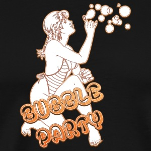 BUBBLE PARTY MED SEXY GIRL FIRE - Premium T-skjorte for menn